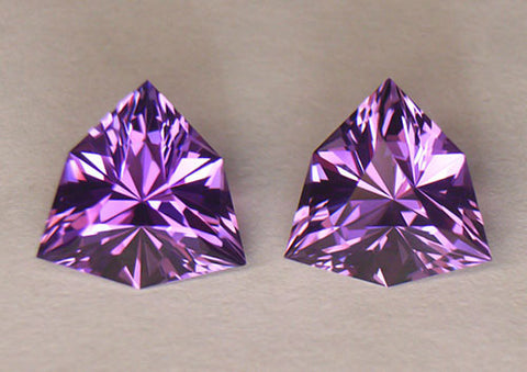 "5.87 tcw Brazilian ""Rose De France"" Amethyst Pair"
