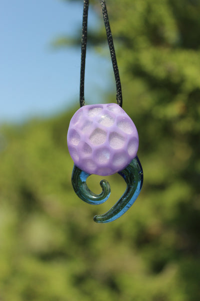 HAND BLOWN GLASS - Unique Pendant