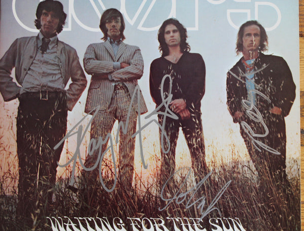 "Autographed by 3 Members of The DOORS - Lp Album ""Waiting For The Sun"""