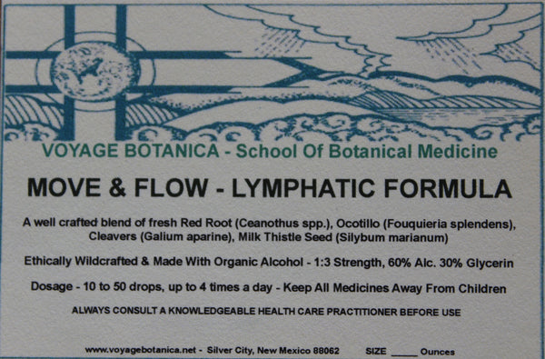 MOVE & FLOW - LYMPHATIC FORMULA - 4 Ounce Size -