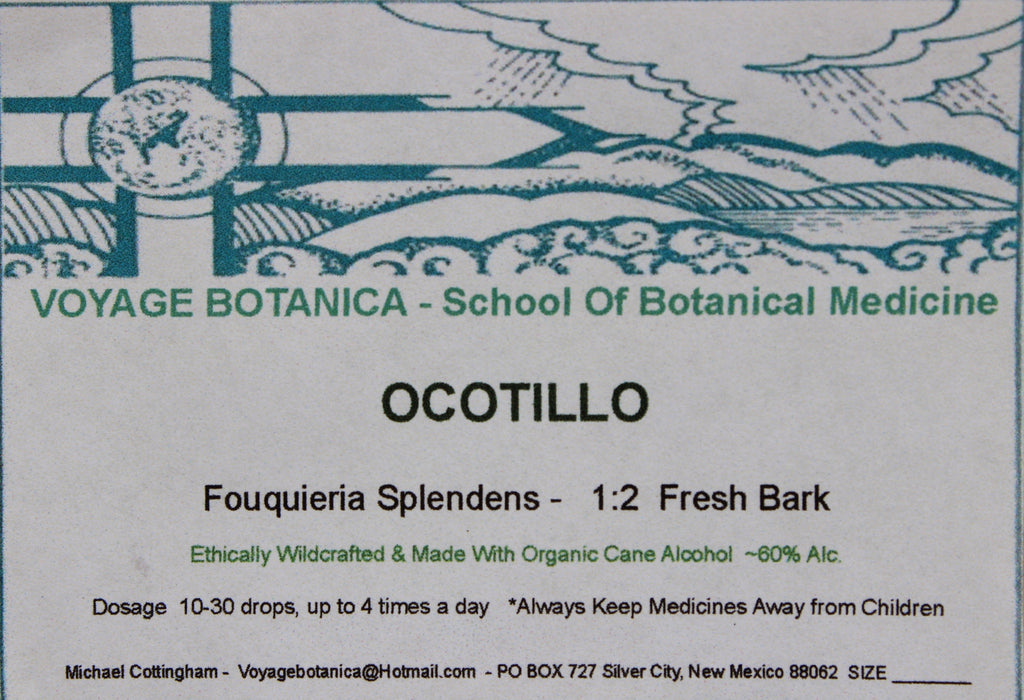 OCOTILLO BARK EXTRACT - Fouquieria splendens -  4 ounce size