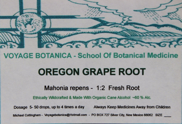 OREGON GRAPE ROOT EXTRACT - Mahonia repens -  4 ounce size