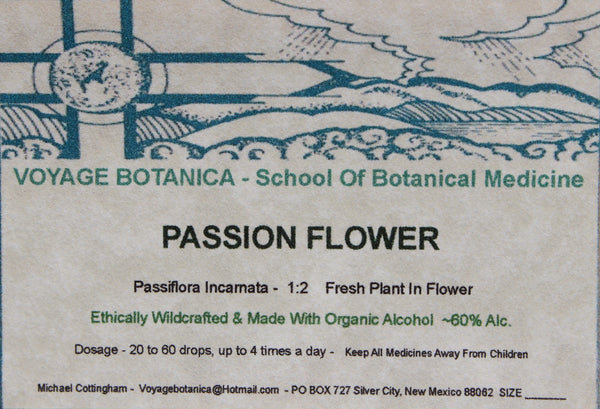 PASSION FLOWER EXTRACT  - Passiflora incarnata -   4 ounce size