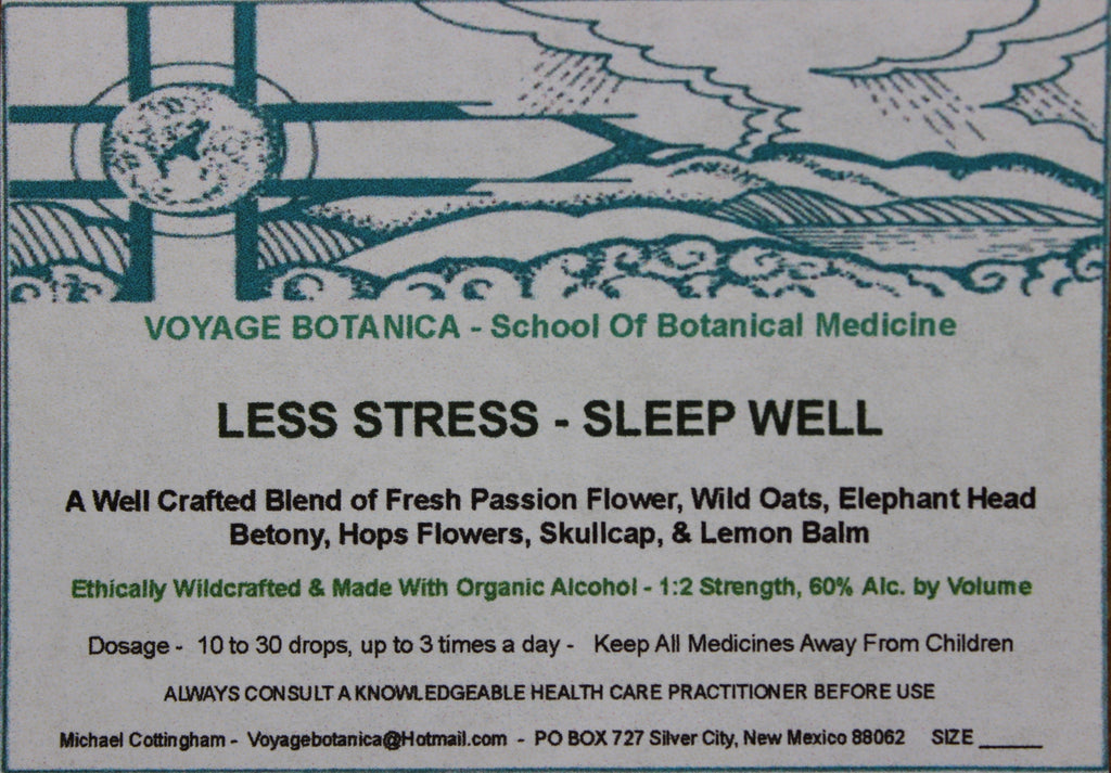 LESS STRESS - SLEEP WELL FORMULA EXTRACT  - 4 ounce size