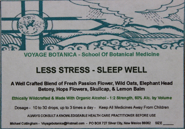 LESS STRESS - SLEEP WELL FORMULA EXTRACT  - 2 ounce size