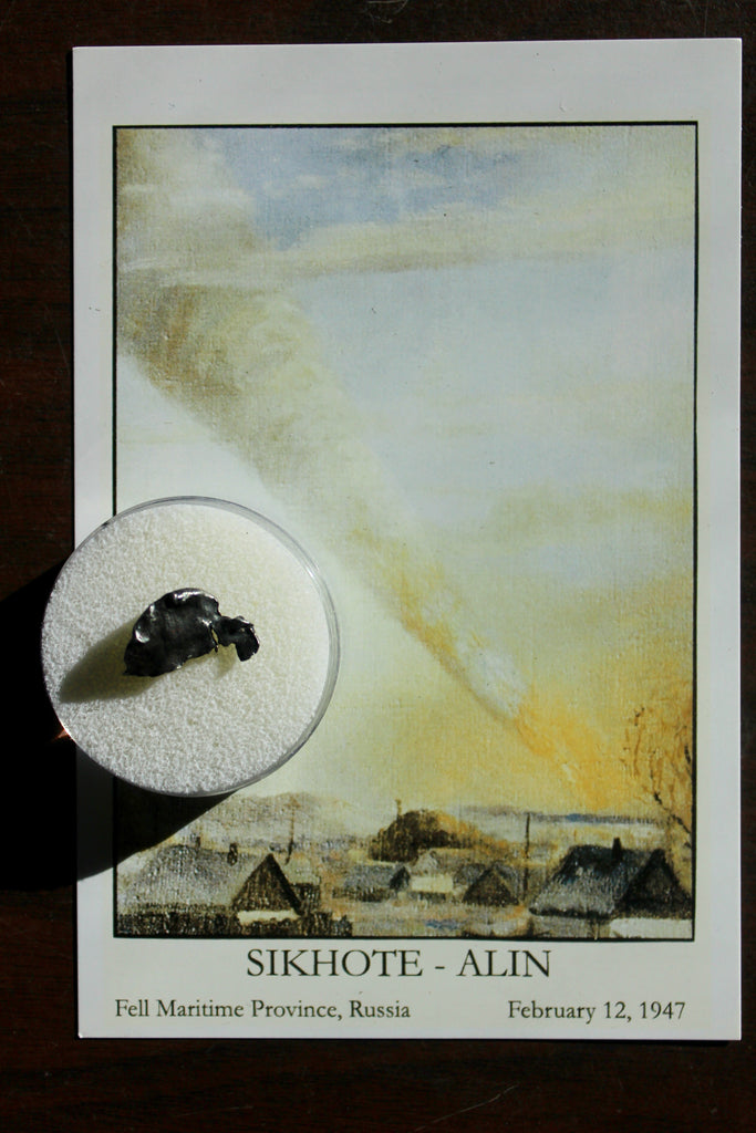 SIKHOTE-ALIN Iron Metoeirte Specimen with Beautiful Postcard of Fall!   #2