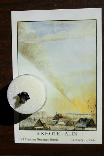 SIKHOTE-ALIN Iron Metoeirte Specimen with Beautiful Postcard of Fall!   #4