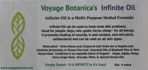 Voyage Botanica's - INFINITE OIL - An Amazing Multi-Purpose Healing Formula - 4 ounce size