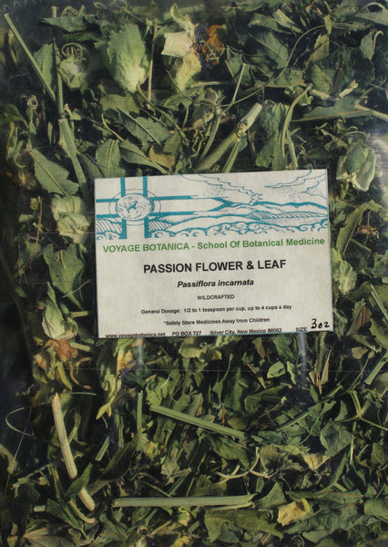 PASSION FLOWER - Dry Leaf & Flower  (3 Ounce)