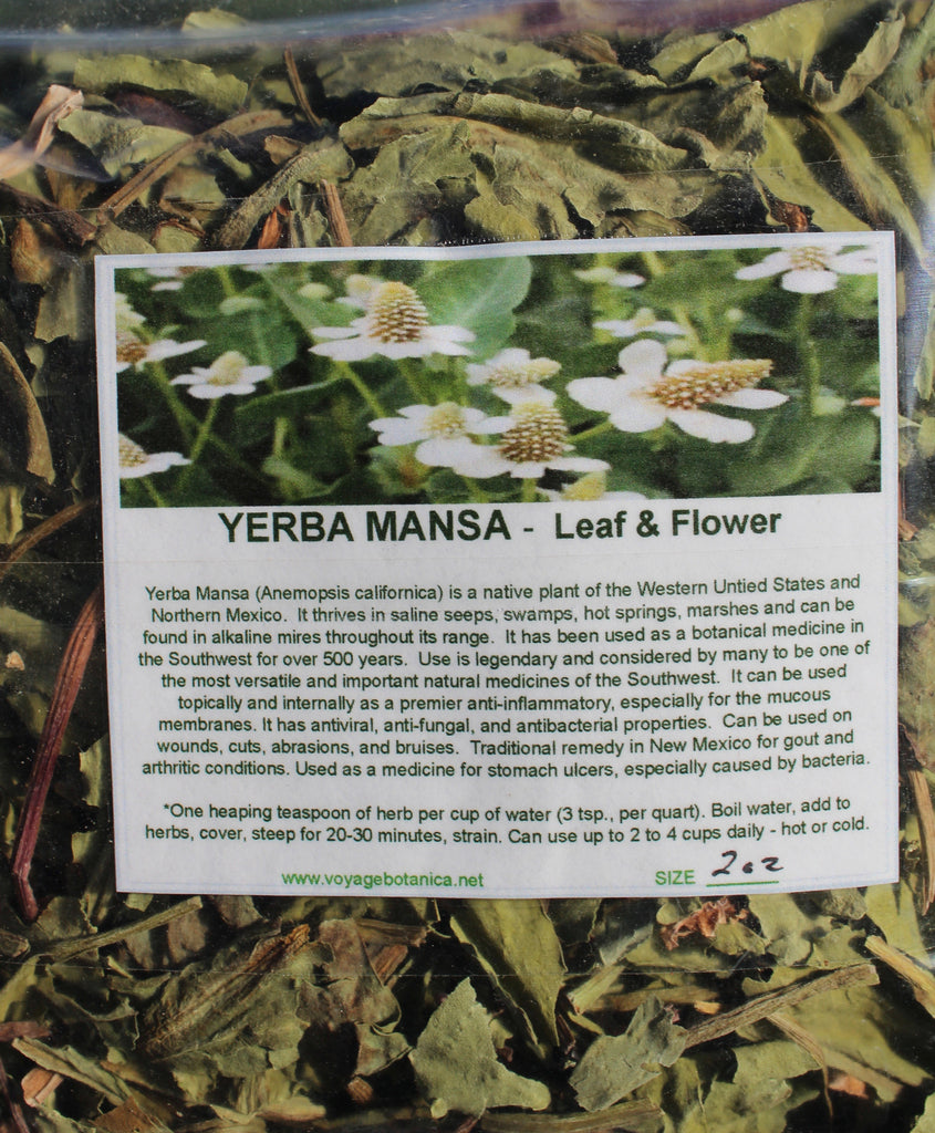 YERBA MANSA - Dry Leaf & Flower - 2 Ounce