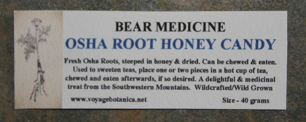 OSHA ROOT HONEY MEDICINE CANDY -  40 gram - Order Now, will deliver when new batch is finished !!