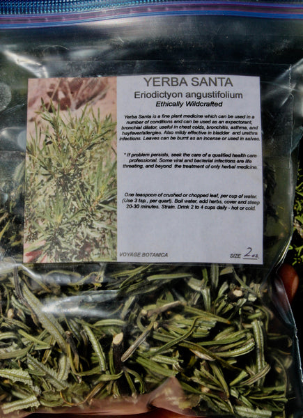 YERBA SANTA - Eriodictyon angustifolium -  (Dry) Leaf and Flower - 2 Ounce Size