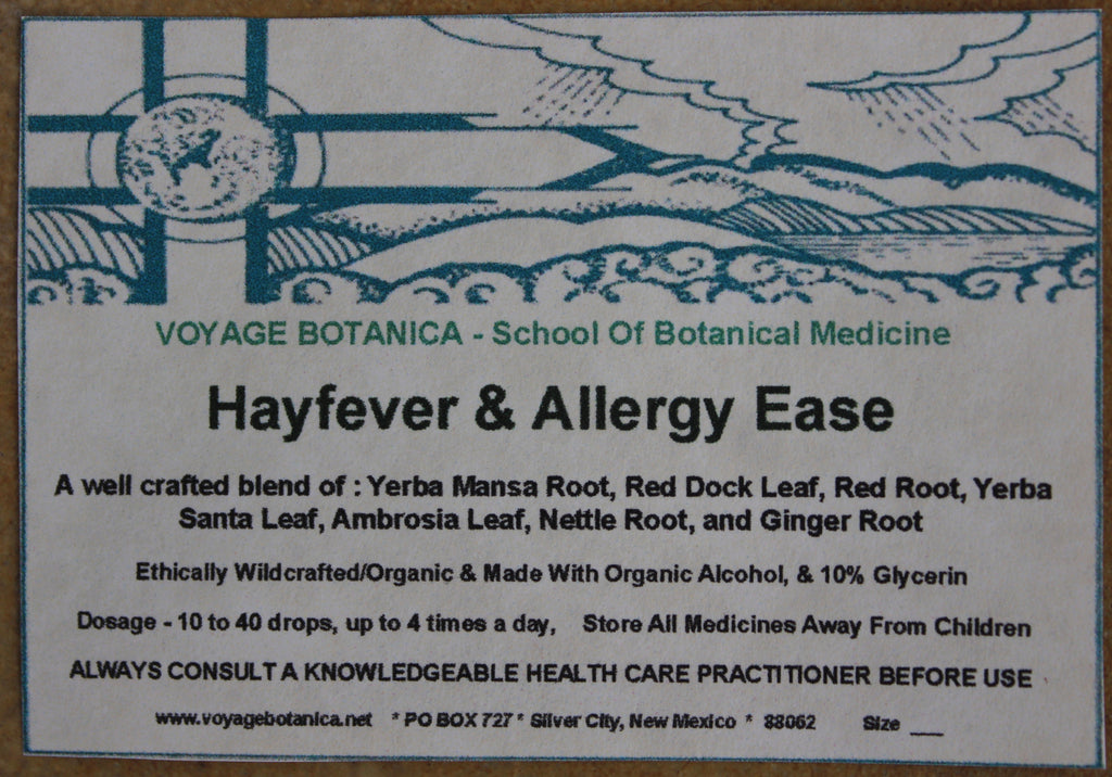 HAYFEVER & ALLERGY EASE Extract Formula - 4 ounce