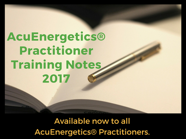 2017 Practitioner Training Notes available now