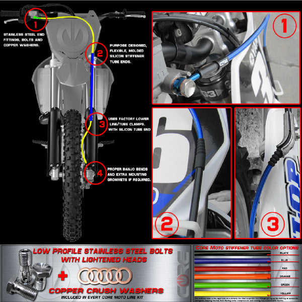 CORE MOTO - KTM Front and Rear Brake Line Combo Kit