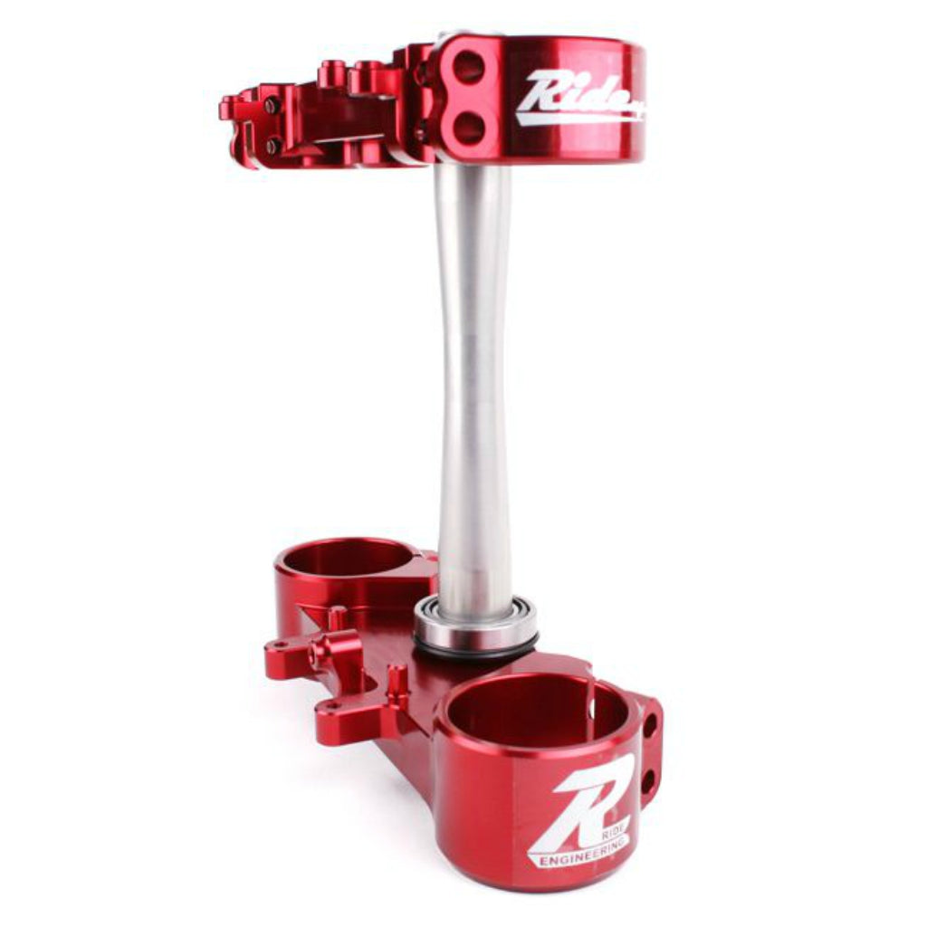 Ride Engineering - Honda - 22mm Offset Triple Clamps - Red - CR-BTB29-RA