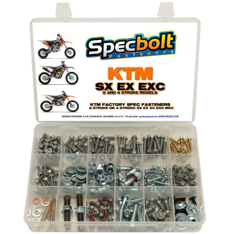 Specbolt - KTM 250pc 2/4 Stroke Bolt Kit - KTM-250