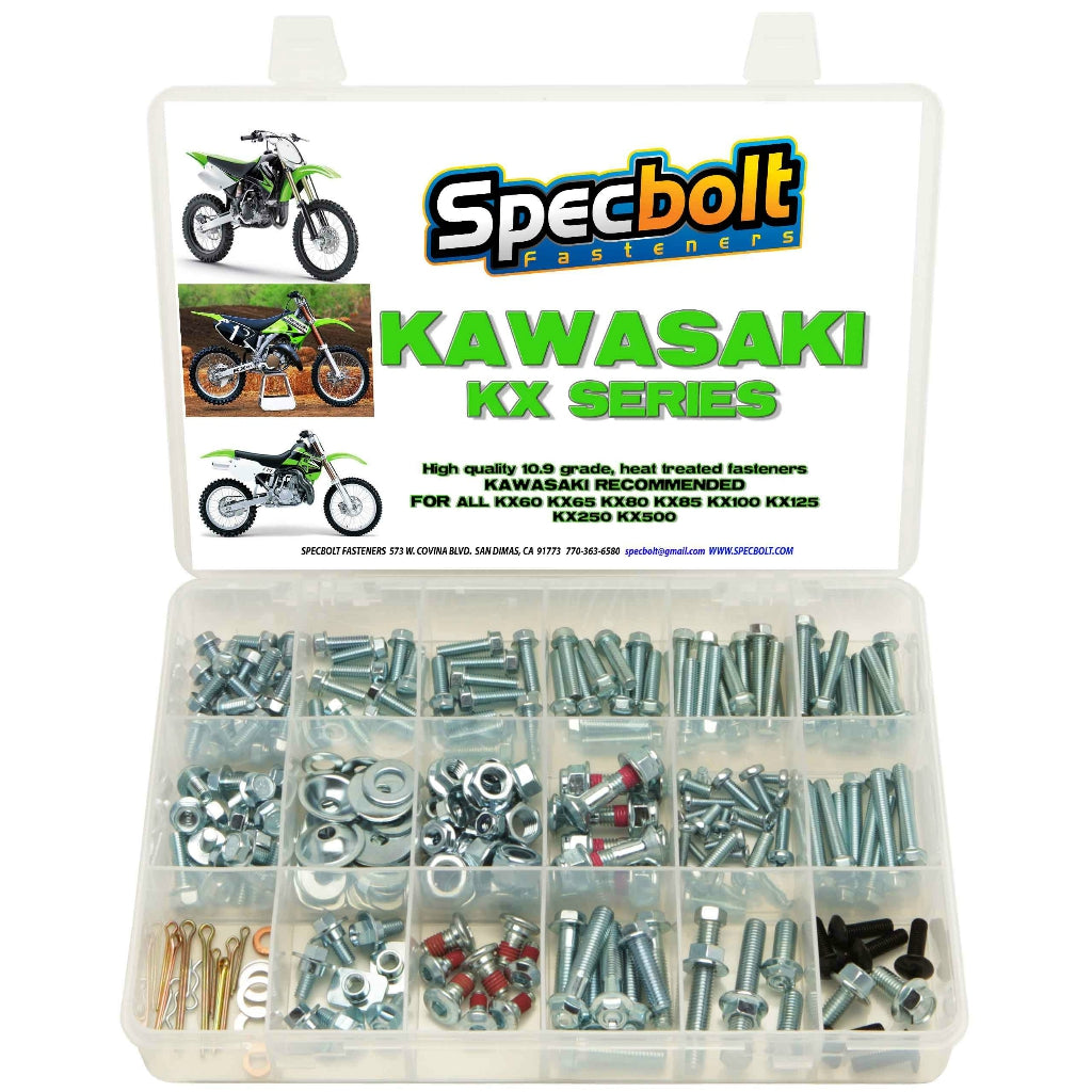 Specbolt - Kawasaki KX 2-Stroke 250pc Bolt Kit - KX250