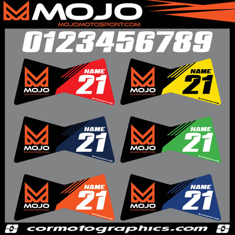 Cor Moto - Mojo Race Stand Rider I.D. Custom Decals