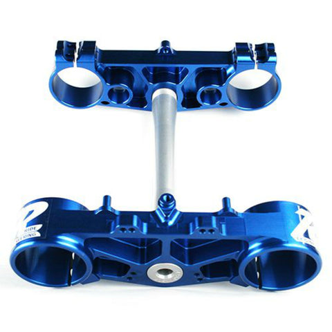 Ride Engineering - Yamaha - 23.5mm Offset Rubber Mount Triple Clamp Set - Blue - YZ-TB223-MB