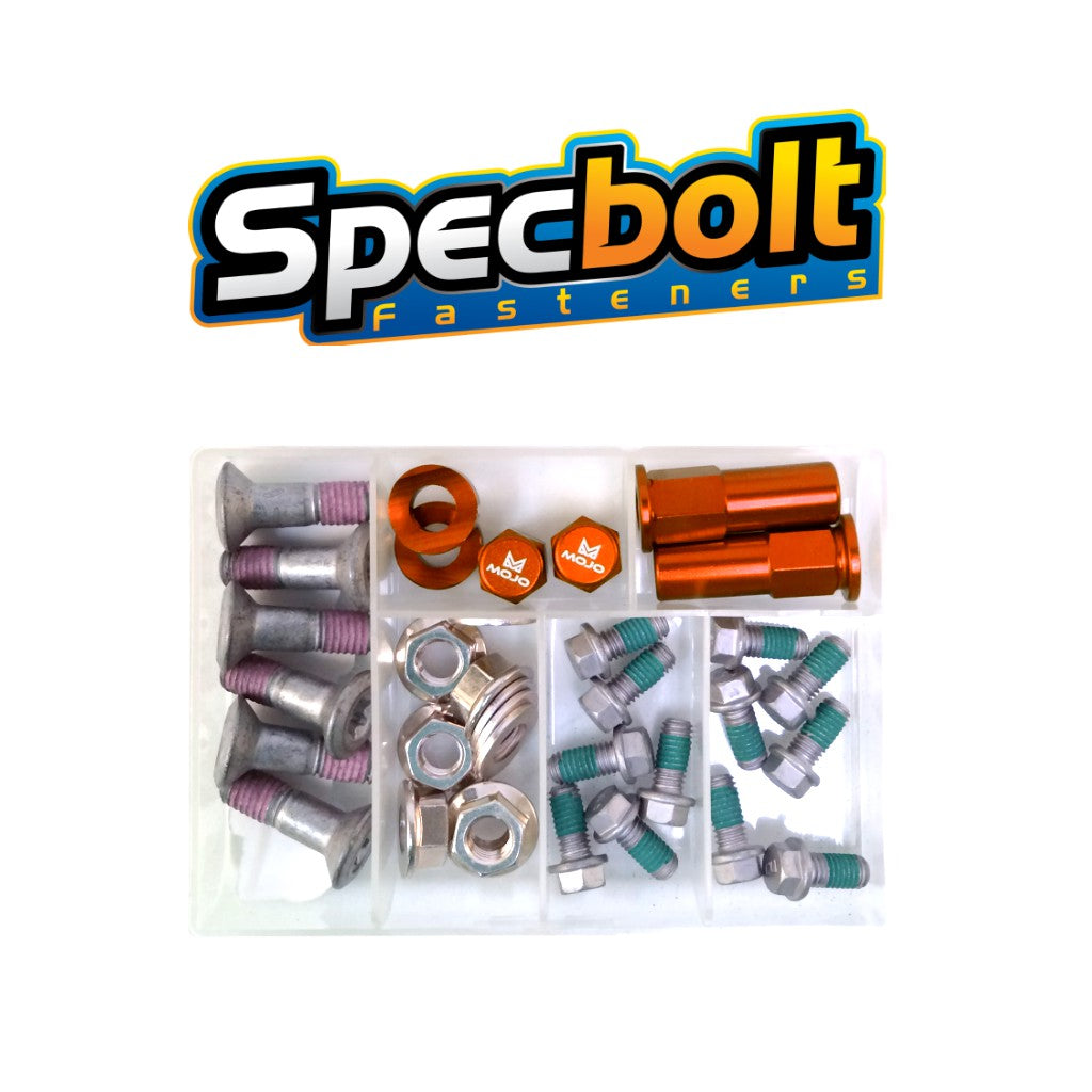 Specbolt - KTM Sprocket and Rotor Bolt Kit with Rim Locks and Valve Stem Caps