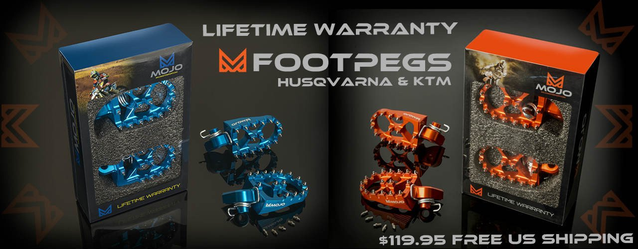 Lifetime Warranty Foot Pegs