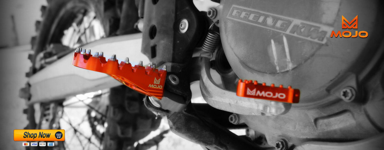 Mojo Foot Pegs & Rear Brake Step Plate
