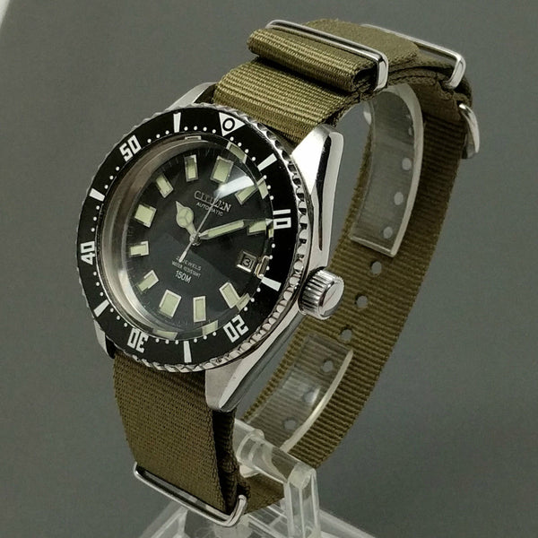 1970s Citizen 52-0110 PAF Air Force Military Issue Diver Automatic Date Watch