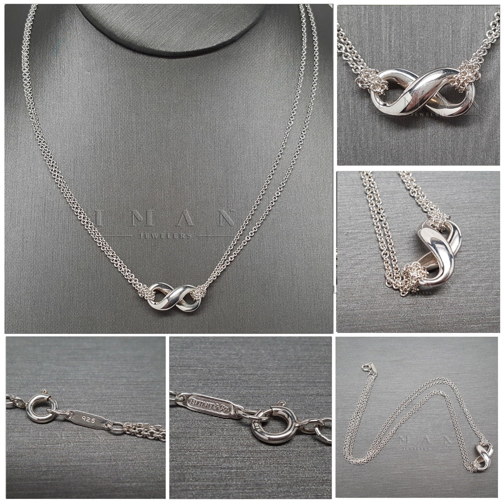 Tiffany co infinity double chain 925 sterling silver pendant tiffany co infinity double chain 925 sterling silver pendant necklace aloadofball Gallery