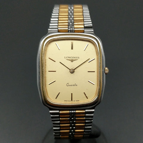 LONGINES L962.2 Caliber 32mm Stainless Steel Gold Dial Swiss Quartz Watch