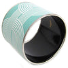 Hermes Mega Enamel And Palladium Bangle Bracelet