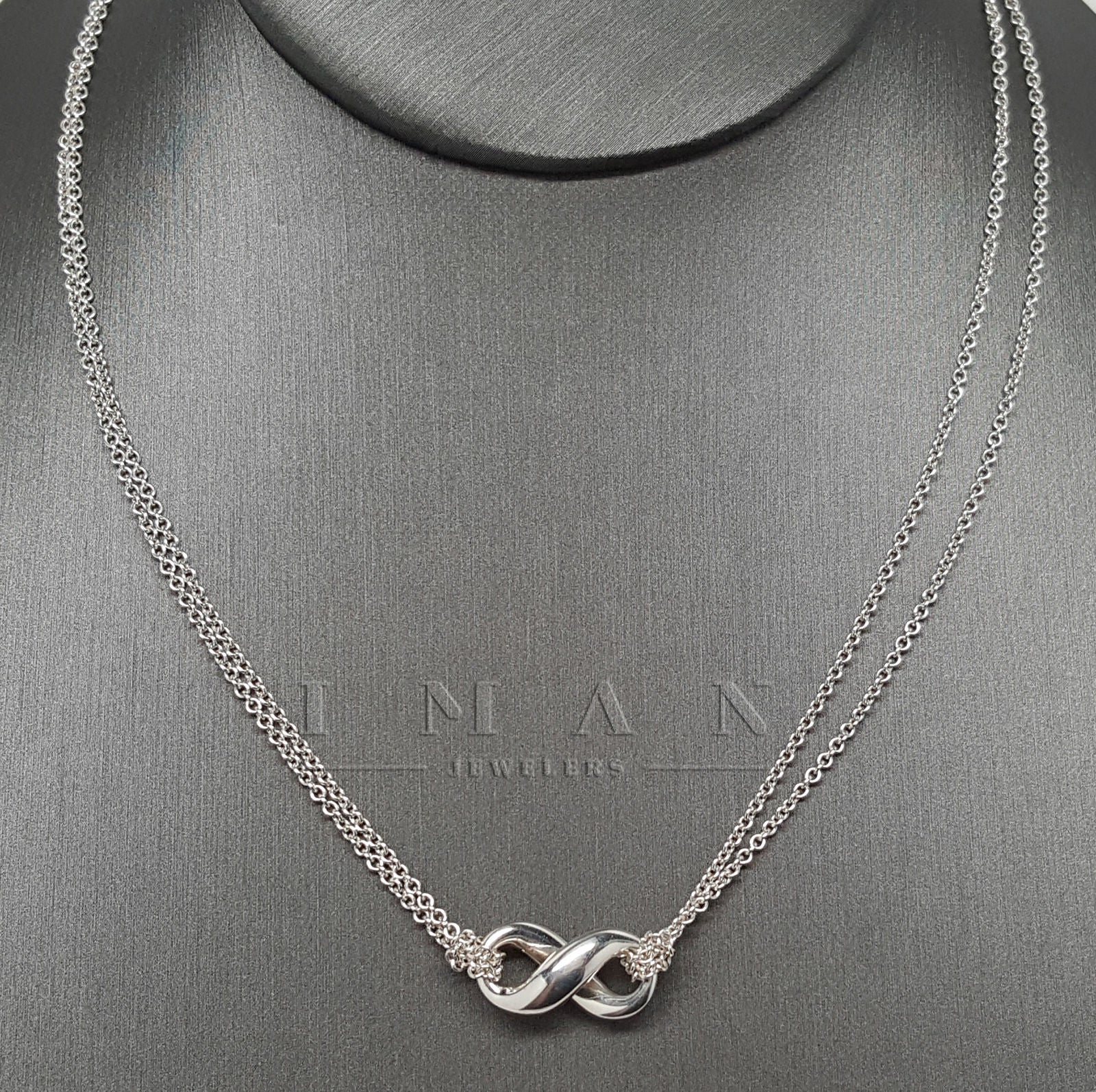8b966bb75 Infinity Double Chain 925 Sterling Silver Pendant Necklace Tiffany & Co. ∞  Infinity Double Chain 925 Sterling Silver Pendant Necklace ...