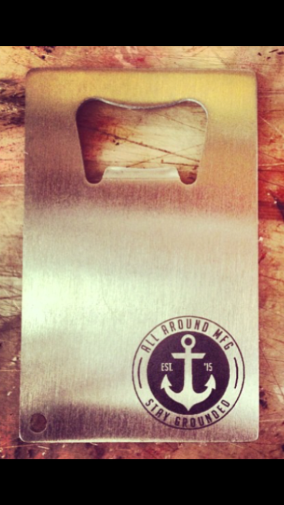 Credit card bottle opener