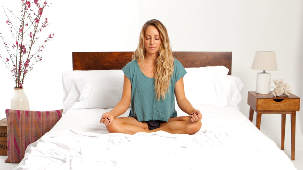 Meditate before bed to relax and sleep well