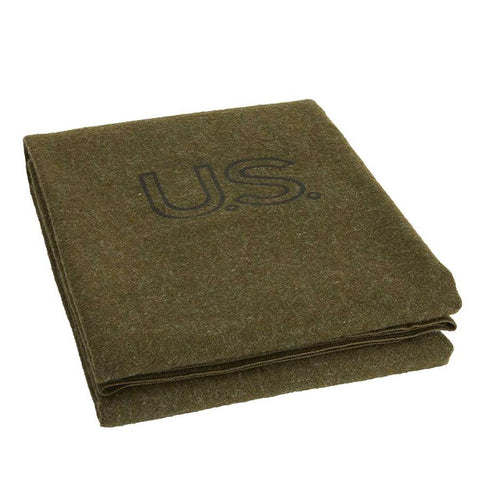 Foot Soldier Military Wool Blanket/Throw - Army Green US