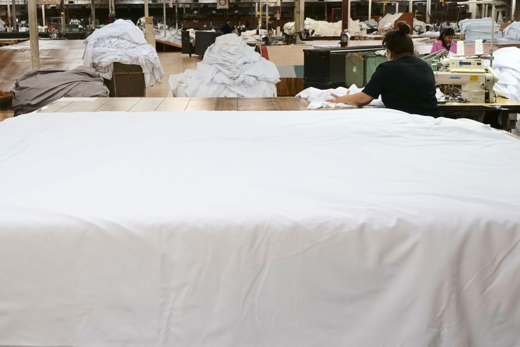 Manufactured in America bed linens