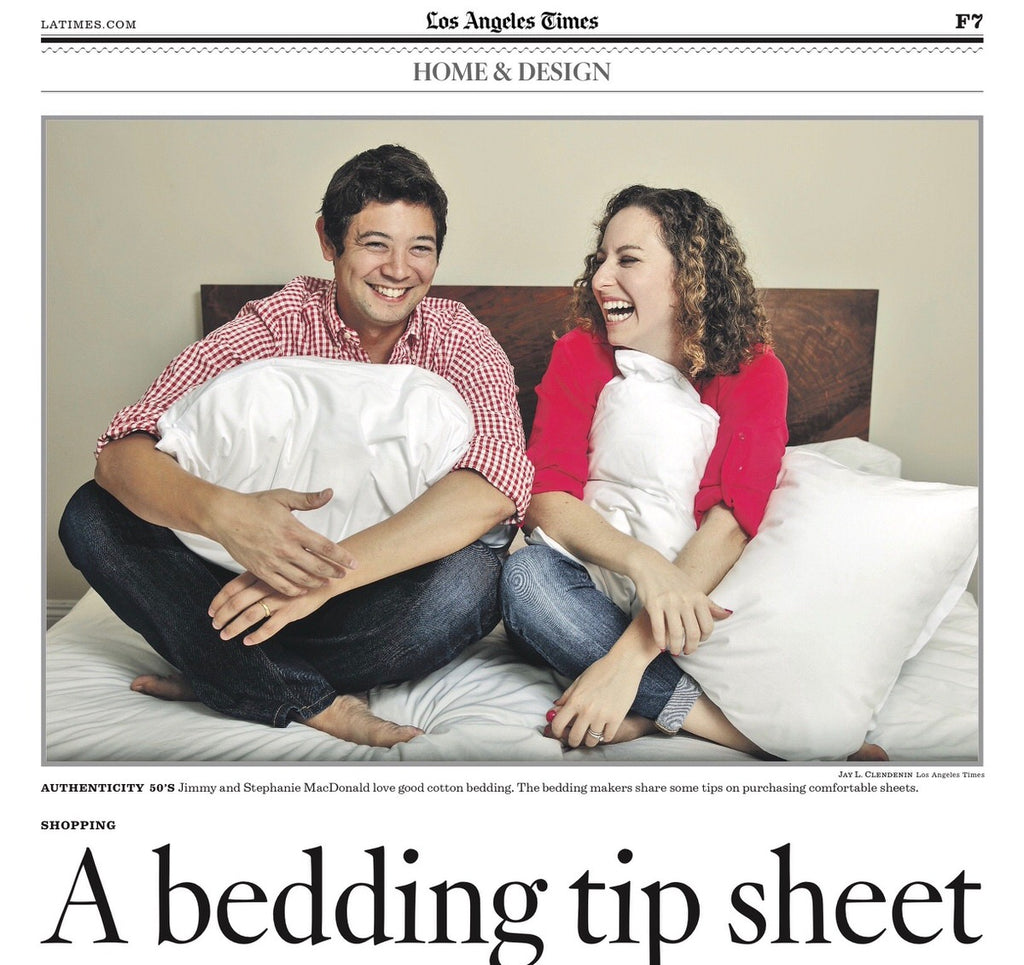 made in usa sheets featured in the los angeles times