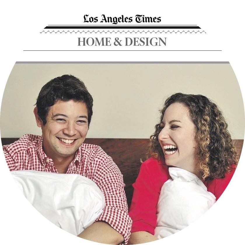 Our Pima cotton sheets featured in the Los Angeles Times