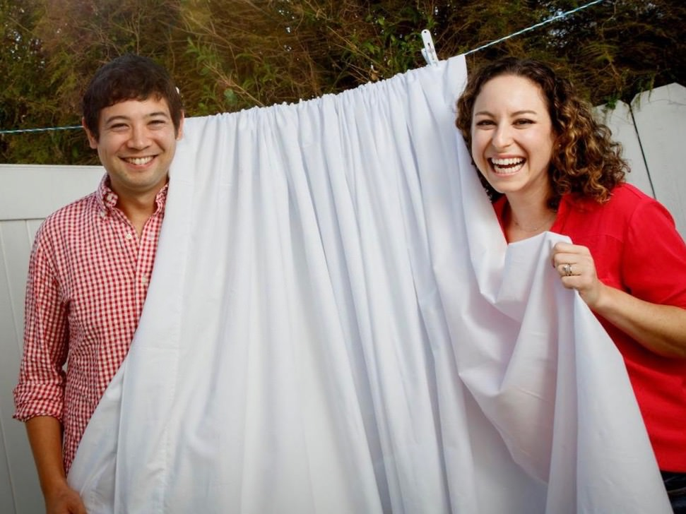 Husband and wife founders that love great american made bedding
