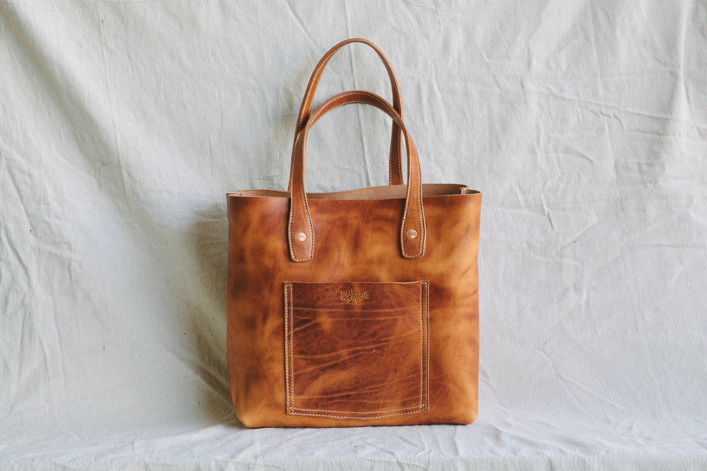 Made in USA Leather Tote