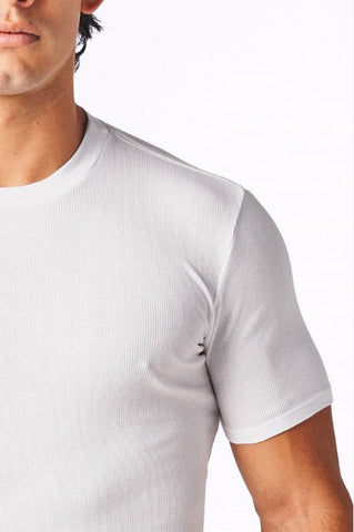 Ribbedtee CoolWear Supima white crew neck undershirt