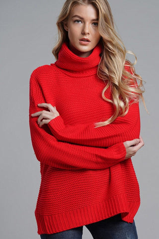 Scarlet Turtleneck Sweater l XL ONLY