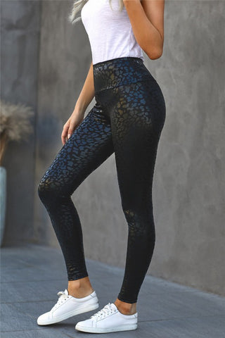 Shiny Leopard Legging