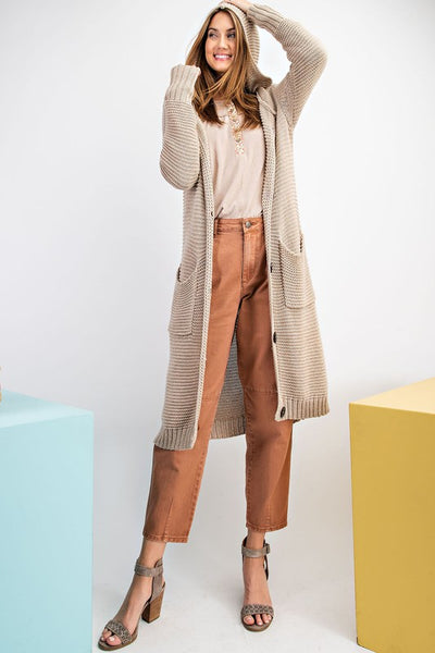 Buttoned Up Hooded Duster