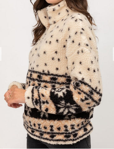 Aztec Sherpa Pullover