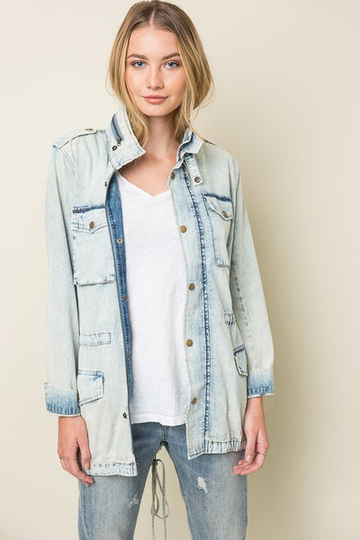 Denim Cargo Jacket