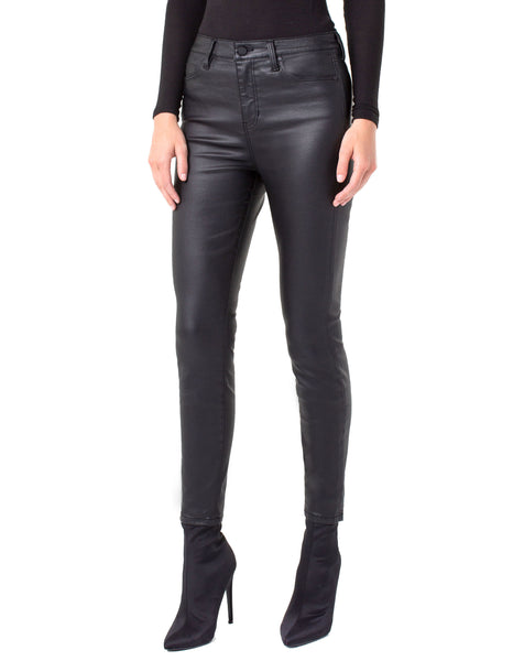 Abby Highwaist Black Coated