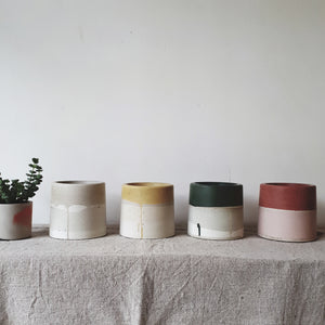Coloured Concrete Pots