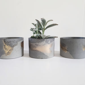 Gold Concrete Planter