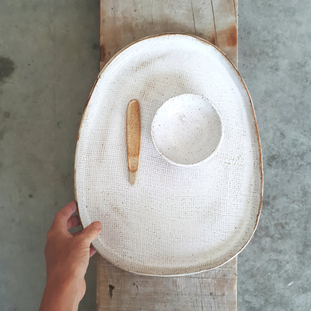 Ceramic Platter ~ Large - FUME Products